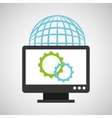 web development computer gear global vector image vector image