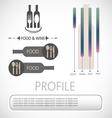 Wine info graphic vector image vector image