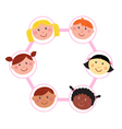 multicultural unity kids heads