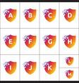 a collection alphabet letter logos vector image vector image