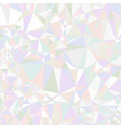 abstract triangle background colorful holographic vector image vector image