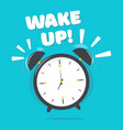 alarm clock with wake up vector image vector image