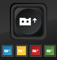 audio cassette icon symbol Set of five colorful vector image