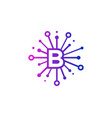 b share letter logo icon design vector image