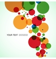 background design of large colored balls vector image vector image
