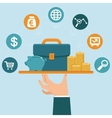 banking service concept in flat style vector image vector image