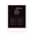 bar and cafe menu flat isolated vector image