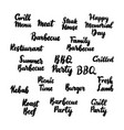 barbecue grill handwritten lettering vector image vector image