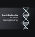 black glowing background of genetic engineering vector image vector image
