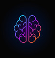 brain outline colorful icon mind concept vector image vector image