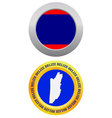button as a symbol BELIZE vector image