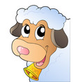 cartoon lurking sheep vector image