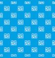 cell calendar pattern seamless blue vector image vector image