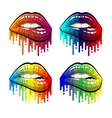 color makeup lips vector image vector image