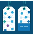 connected dots vertical stripe frame pattern tags vector image vector image
