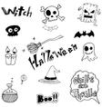 Cute halloween doodle art vector image vector image