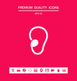 ear symbol icon graphic elements for your design vector image