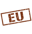 eu brown square stamp vector image vector image