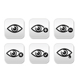 Eye sight buttons set - vector image vector image
