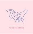 facial massage icon cosmetology concept vector image