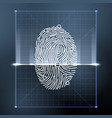 fingerprint biometric scan for personal vector image