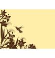 floral backgroud vector image vector image