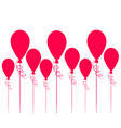 flying hot air balloons background for your vector image vector image
