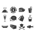 food drink icons alcohol fish and burger vector image vector image