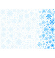 frosty snowflakes background vector image vector image