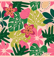 fruit floral pattern vector image vector image