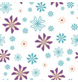 geometric floral flowers scattered repeat vector image vector image
