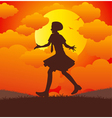 Girl running vector image vector image