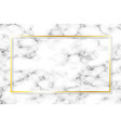 golden frame on marble background with shadow vector image vector image