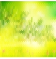 Green blurred background and sunlight EPS 10 vector image
