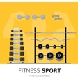 Gym equipment concept vector image vector image