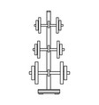 gym equipment isolated in black and white vector image