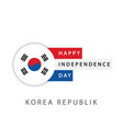 happy korea republic independence day template vector image vector image