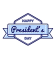 Happy Presidents day greeting emblem vector image