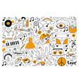 hippie doodle set vector image