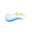 house water beach abstract logo vector image vector image