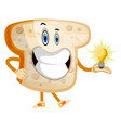idea toast on white background vector image vector image
