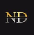 initial monogram letter nd logo design template vector image vector image