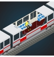 Interior view of a subway car Train Subway vector image vector image