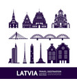 latvia travel destination vector image