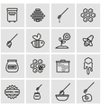 line honey icon set vector image