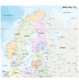 map northern europe with major cities vector image vector image