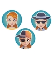 Mystery secret shopper woman half of the face vector image vector image
