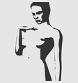 naked young woman sketch vector image vector image