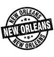 new orleans black round grunge stamp vector image