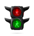 Pedestrian traffic light vector image vector image